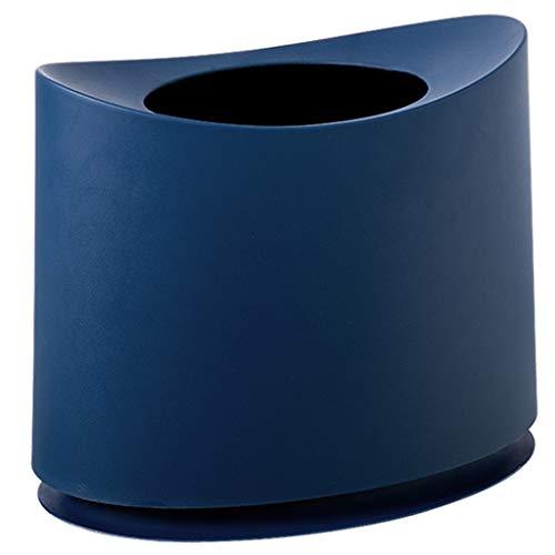 Die Öffnung Der Schranken 1.5 (HNBY Mülleimer Kunststoff Mülleimer, Kleines Desktop-Design Und Hochwertiges PP-Material, Küche, Wohnzimmer, Bad Mülleimer (Color : Blue))