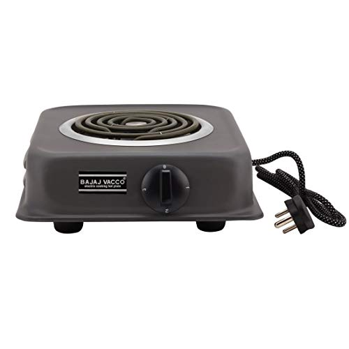 BAJAJ VACCO Electric Coil Hot Plate (2000 WATT PC W/REG, Black)