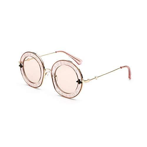 Wghz Retro runde Sonnenbrille englische Buchstaben kleine Biene Männer Frauen Marke Brille Designer Mode männlich weiblich