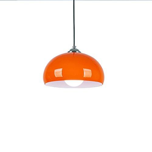 Postmoderne Eisen Kronleuchter, Nordic LED Orange Runde leuchter Deckenleuchten Moderne minimalistische Wohnzimmer Korridor Esstisch Pendelleuchte, E27 Gang-low-voltage-wand