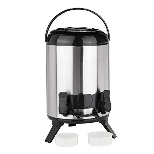 HI Warmhalte-Airpot Thermo Behälter mit Zapfhahn - 9 Liter Thermoskanne mit Hahn, Edelstahl Kaffeekanne, Isolierkanne Edelstahl für Kaffee, Tee oder Glühwein