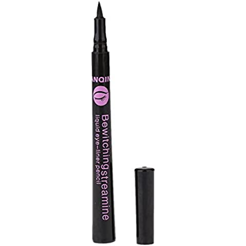 Anself Delineador impermeable negro líquido para ojos liner lápiz pluma de maquillaje cosmético