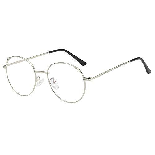 Igemy Unisex Brille Paar Brille Elegante Temperament Göttin Weinlese Runde Rahmen Gläser (B)