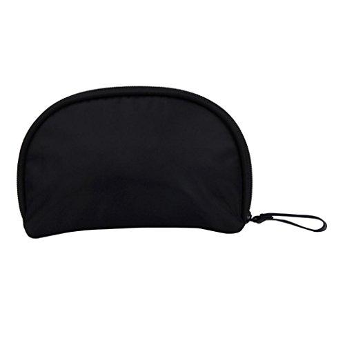 Igemy Stilvoller Tourist Mädchen Kosmetik Schönheit Kosmetik Tasche Mini-Taschen Lagerung Taschen(Schwarz )