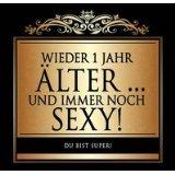 Udo Schmidt Aufkleber Flaschenetikett Etikett Wieder 1 Jahr älter schwarz gold elegant
