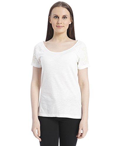 ONLY Women's Back Detail T-Shirt (1531023004_Cloud Dancer_S)