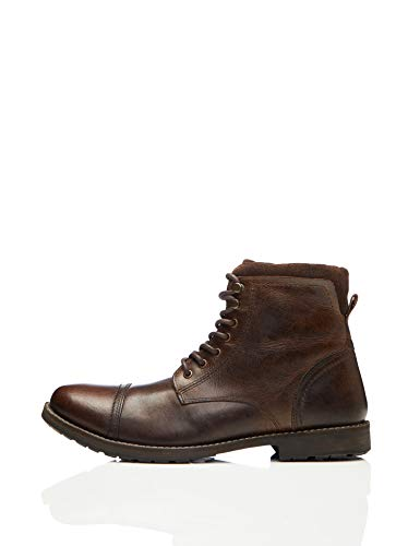 find. Max Herren Zip Worker Biker Boots, Brown (Dark Brown), 40 EU