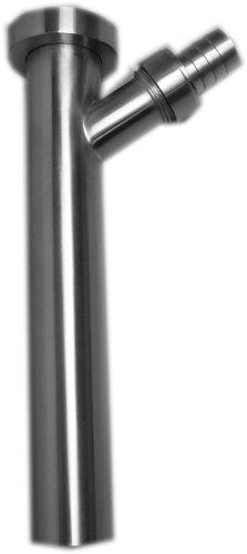 Edelstahl Tauchrohr mit Y-Anschluss für Ablauf 1 1/4 und 3/4 Zoll, Länge 20 cm, gebürstet, 604026