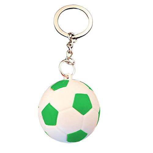 Fußball Schlüsselanhänger Sport Schlüsselanhänger Oder Kinder-Partei-Bevorzugungen Schulfest Reward, Party-Taschen-Geschenk Füllstoffe (Grün)