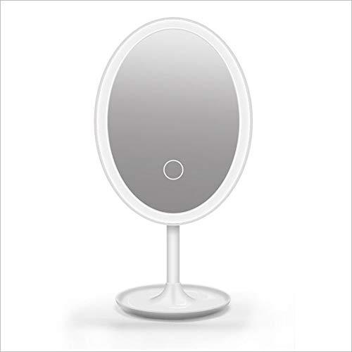 Miroir de maquillage XIAHE Créatif De Charge USB LED Tactile Tactile Miroir De Gradation Lampe Multifonctions Bureau LED Mirror Miroir Pliant Multifonctionnel