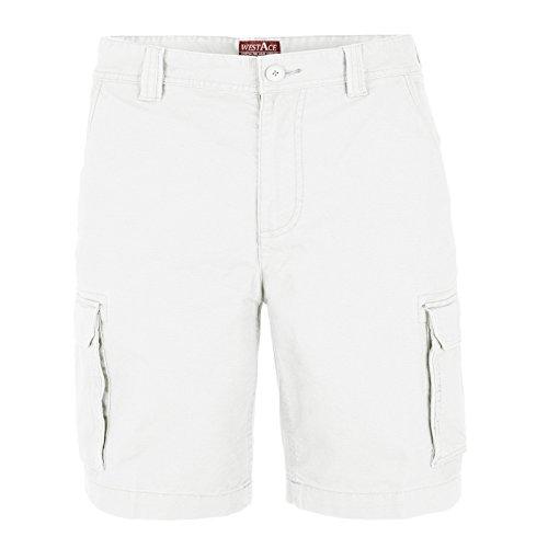westAce Herren Cargo Short Weiß