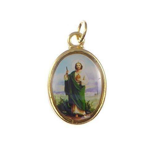 Católica Rosario Medalla - St. Jude - Imagen Metal Color Dorado 20mm