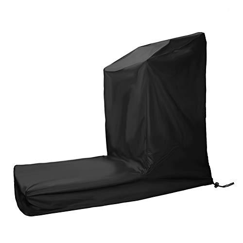 DMZY Laufband Abdeckhaube Abdeckung für Garten Möbel Wasserdicht UV Schützend Premium Schutzhülle für Staubschutz Wetterschutz Cover Hülle Schwarz,L