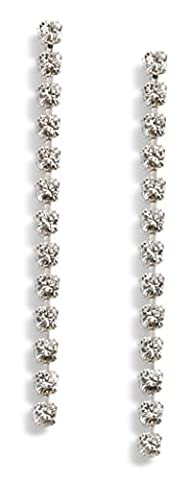 Long Diamante Earrings - Made With Swarovski Crystals - Diamante Earrings - Crystal Earrings - Long Earrings - Silver Plated/Pierced