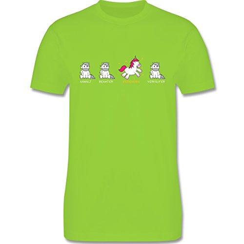 Shirtracer Sonstige Berufe - Erzieherin Einhorn - Herren T-Shirt Rundhals Hellgrün