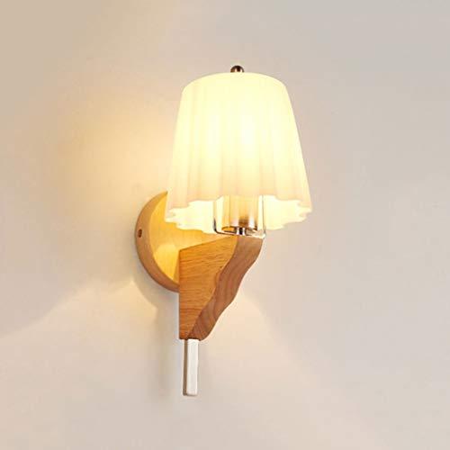 Multifunktionale Wandleuchte Jiaqi Mode Kreative Massive Eiche Glas Wandleuchte Modernen Minimalistischen Wohnzimmer Schlafzimmer Nachttischlampe Glas Treppen Gang Wandleuchte -