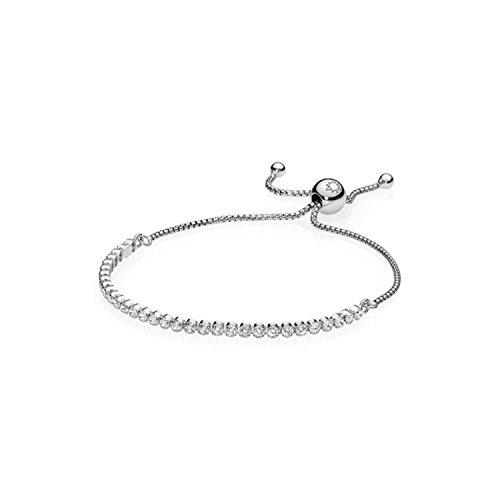 Pandora braccialetto a catenina donna argento - 590524cz-2