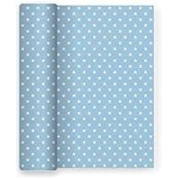Mantel de papel con decorado de Estrellas Azul Baby ideal para fiestas de cumpleaños, aniversarios, fiestas baby shower y bautizos - 1,2 x 5 m
