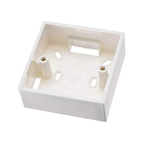 ZCHXD Wall Switch Box Electrical Outlet Surface Mounting Cassette Single Gang Single Surface Box