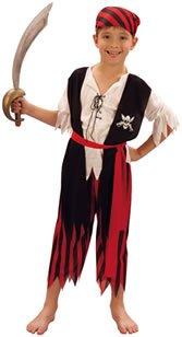Imagen de disfraz de niño del pirata jim. 3  5 años