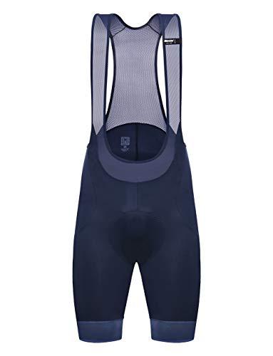 Santini Herren Scatto Kurze Trägerhose, Marineblau/blau, XL