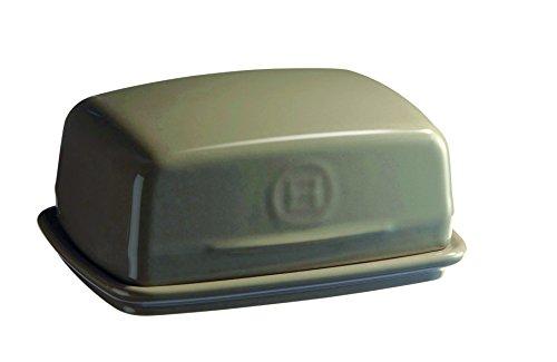Emile Henry Eh950225 Beurrier Céramique Gris Silex 17 X 12 X 7 cm