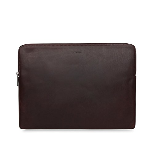 Knomo 45-102-BRN Barbican Notebook Sleeve 38,1 cm (15 Zoll) Leder braun (Laptop Knomo)