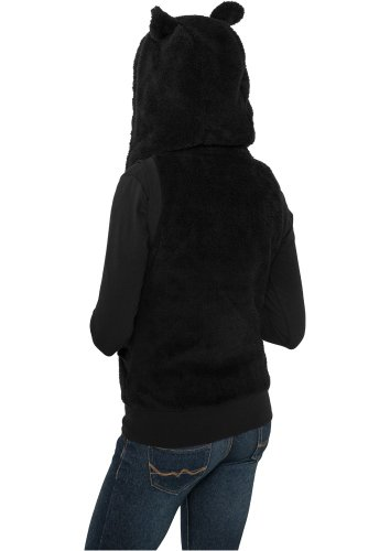 Urban Classics Ladies Teddy Vest, Pull sans Manche Femme black