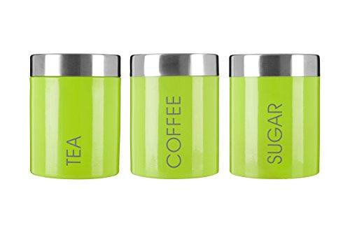 Premier Housewares Liberty Behälter für Tee, Kaffee und Zucker Lindgrün