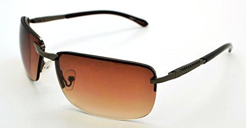 Vox tendance classique de haute qualité pour homme & Femme Hot Fashion Lunettes de soleil W/sans pochette en microfibre Gray Frame - Brown Lens