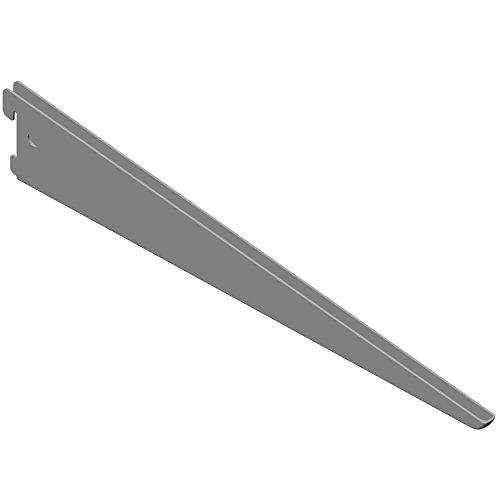 Element System U-Träger Regalträger 2-reihig, 2 Stück, 5 Abmessungen, 3 Farben, Wandschiene, weißaluminium