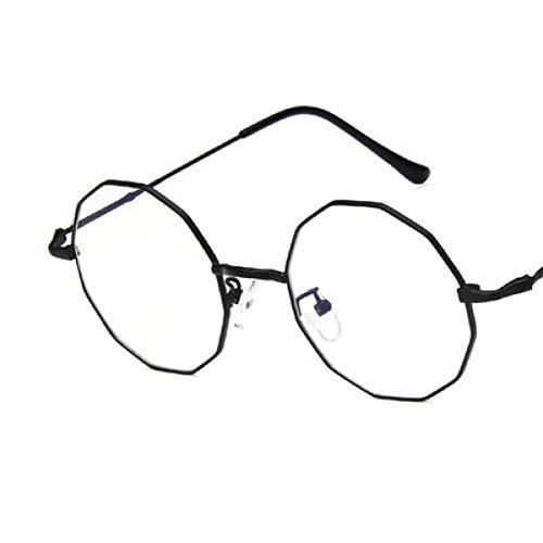 SUNNYJ Sonnenbrille Mode Damen Polygon Runden Rahmen Flugzeug Spiegel Damen Retro Transparent Brillengestell Ultraleichten Metall Brillengestell 2