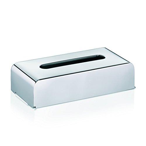 KELA 22860 Kosmetiktuchbox mit Wandhalterung, 27x 12,5x 7cm, Edelstahl 18/10, Faber, Silber Glänzend