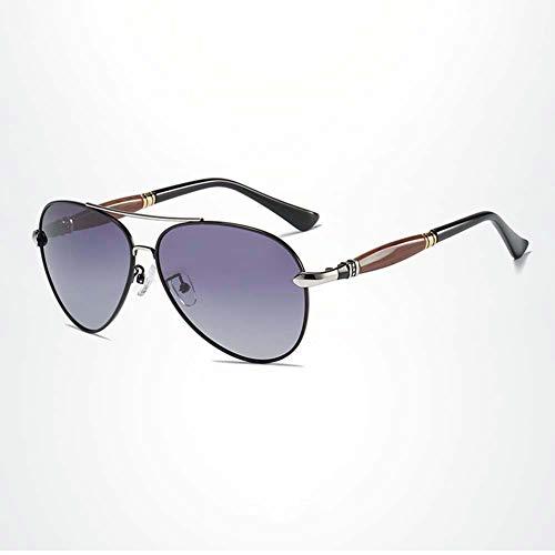 Z&HA Männer Fahren Brillen Treiber Polarisierte Sonnenbrille Aviator Stil Brille Al-Mg Rahmen, Angeln Radfahren Sportbrillen Für Männer Und Frauen,Black