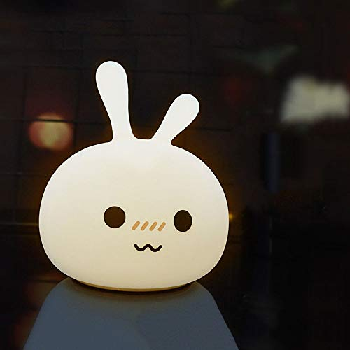 Silicone lumière de nuit légère créatrice de lumière de nuit créatrice de rêve de charge, contrôle de tir de lapin