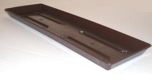 Soucoupe pour jardinière de balcon en plastique marron 100 cm