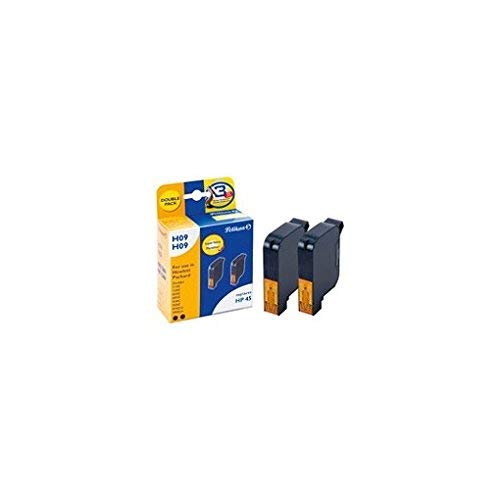 Pelikan Ink BK 2 X (51645AE - HP45) F/HP 2X Black 2X 42ML, 359537 (F/HP 2X Black 2X 42ML) Fhp-serie