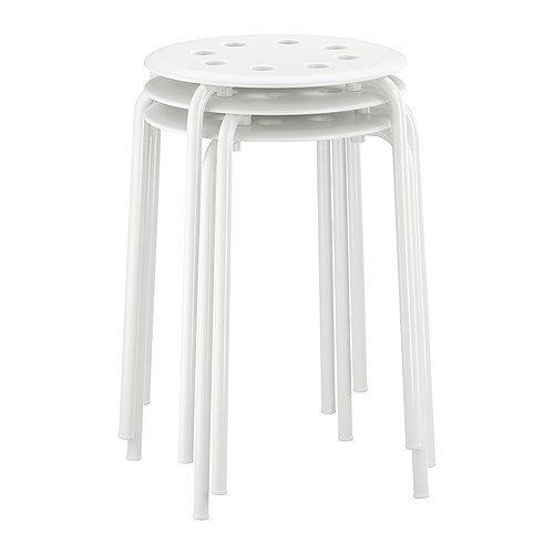 ikea stapelhocker 39 marius 39 hocker mit 45cm sitzh he stahl weiss hocker. Black Bedroom Furniture Sets. Home Design Ideas