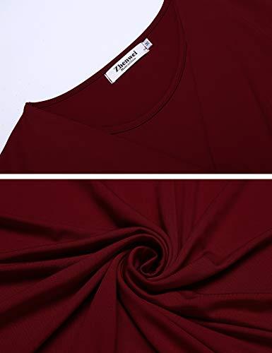 Umstandskleid Elegant Lang Stillkleid Festlich Knielang Schwangerschafts Kleid Umstandspyjama - 6