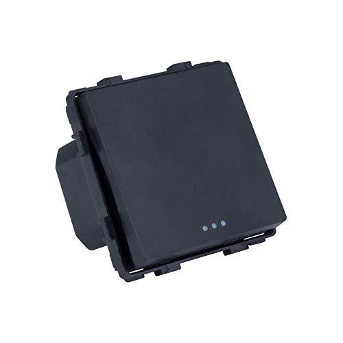 Interruptor Simple de Cruzamiento Negro efectoLED