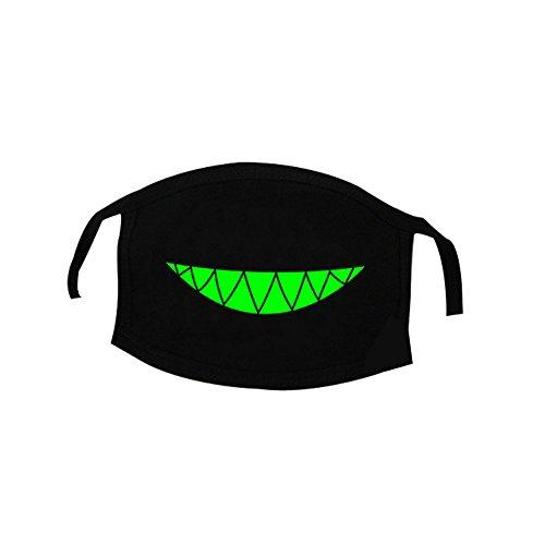 Surker Personnalit¨¦ Mode Lumineux Noir Bouche Masques