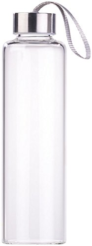 PEARL Glastrinkflasche: Trinkflasche aus Borosilikat-Glas, 550 ml, spülmaschinenfest, BPA-frei (Edle Trinkflasche)
