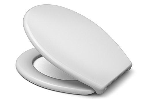 Cedo WC-Sitz Caladon Beach in weiß mit Edelstahlscharnier und FastFix Schnellmontage – aus Duroplast für ovale Keramiken mit Befestigung von unten