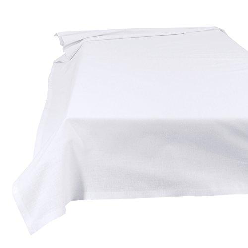 Betttuch Bettlaken Haustuch Tischdecke 100% Baumwolle 150 x 250 cm weiß