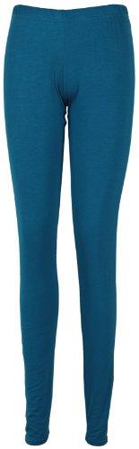 Femmes Neuf Extensible Uni Mesdames Complets Long Longueur Skinny Taille Élastique Pantalon Legging Bleu - Bleu-vert