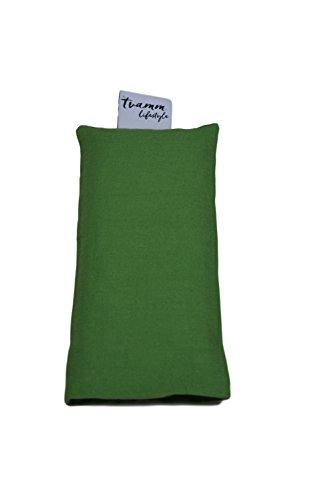 Tvamm-Lifestyle Augenkissen mit Leinsamen/Lavendel Füllung - 100% Baumwolle Stoff, 23 x 11 cm/in wunderschönen Farben erhältlich (Grün)