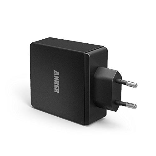 Anker 36W 5V / 7.2A 4 Port USB Ladegerät Wand Ladeadapter mit PowerIQ Technologie Wall Charger für iPhone iPad Tablet Samsung Galaxy, HTC, Sony, LG, Nexus,Motorola und usw (Schwarz)