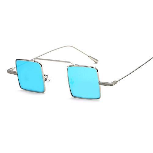 Sonnenbrillen Mode Kleine quadratische Linse Sonnenbrillen für Frauen Männer Unisex Metall gerahmt Sonnenbrille Retro Persönlichkeit umrandeten stilvolle Sonnenbrille zum Fahren UV-Schutz Sonnenbrille