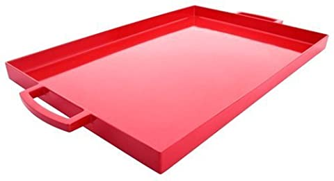 Zak Designs Pop 19.5-Inch by 11.5-Inch Large Rectangular Tray, Red by Zak Designs