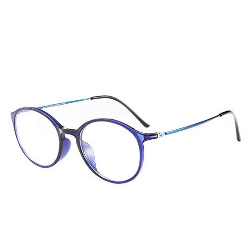 Chengduaijoer Unisex-Retro-Brillengestell Mode Brillen Nicht verschreibungspflichtige Brillen für Frauen (Color : Blue)